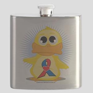 Red--Blue-w-Heart-Ribbon-Duck Flask