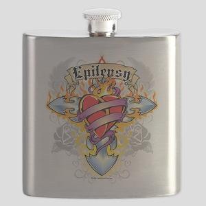 Epilepsy-Cross--Heart Flask