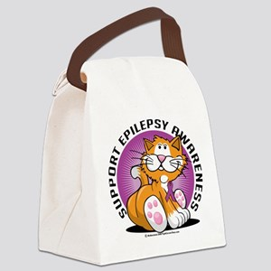 Epilepsy-Cat Canvas Lunch Bag