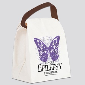 Epilepsy-Butterfly Canvas Lunch Bag