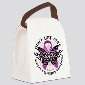 Epilepsy-Butterfly-Tribal-2 Canvas Lunch Bag
