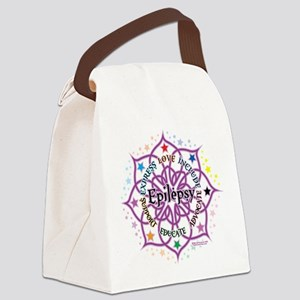 Epilepsy-Lotus Canvas Lunch Bag