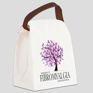 Fibromyalgia-Tree Canvas Lunch Bag