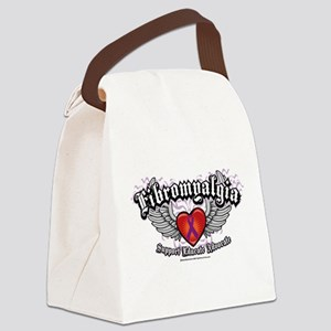 Fibromyalgia-Wings Canvas Lunch Bag