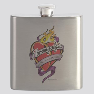 Fibromyalgia-Tattoo-Heart Flask