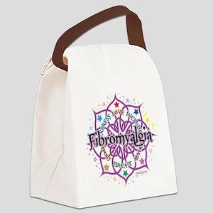 Fibromyalgia-Lotus Canvas Lunch Bag