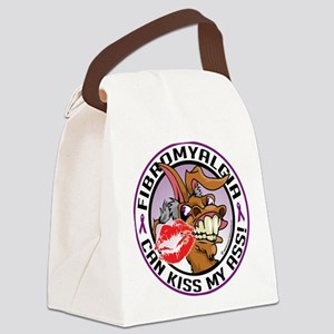 Fibromyalgia-Kiss-My-Ass Canvas Lunch Bag
