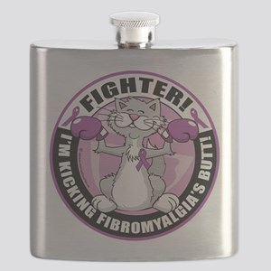 Fibromyalgia-Fighter-Cat Flask