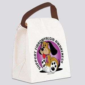 Fibromyalgia-Dog Canvas Lunch Bag