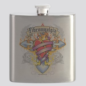 Fibromyalgia-Cross--Heart Flask