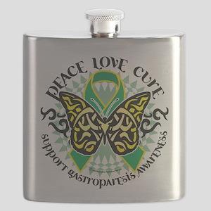 Gastroparesis-Butterfly-Tribal-2 Flask