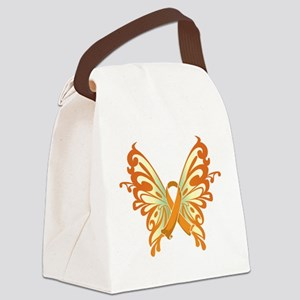 Orange-Butterfly-2009 Canvas Lunch Bag