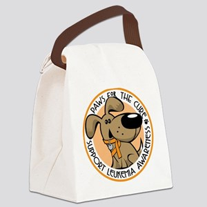 Paws-for-the-Cure-Leukemia Canvas Lunch Bag