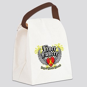 Liver-Cancer-Wings-2 Canvas Lunch Bag