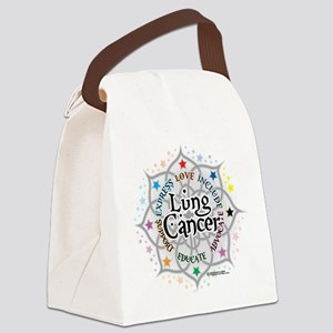 Lung-Cancer-Lotus Canvas Lunch Bag