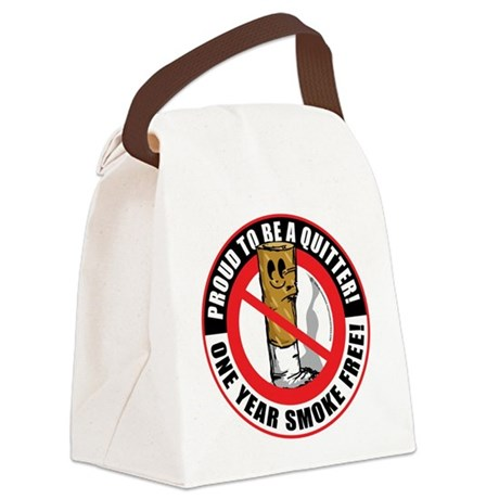 Proud-To-Be-A-Quitter-1-Year.png Canvas Lunch Bag