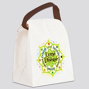 Lyme-Disease-Lotus Canvas Lunch Bag