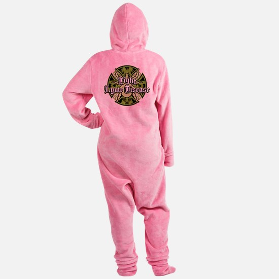 Lyme-Disease-Iron-Cross.png Footed Pajamas