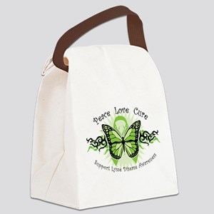 Lyme Disease Butterfly Canvas Lunch Bag