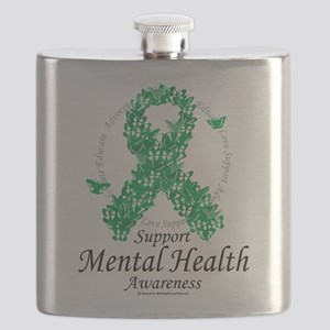 Mental-Health-Ribbon-of-Butterflies Flask