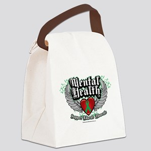Mental-Health-Wings Canvas Lunch Bag