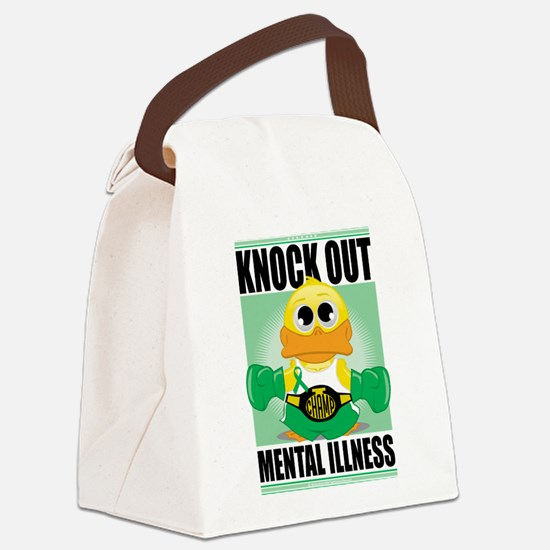 Knock-Out-Mental-Illness.png Canvas Lunch Bag