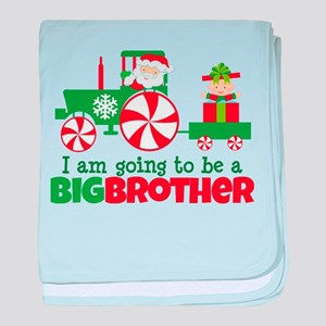 Santa Tractor Big Brother To Be baby blanket