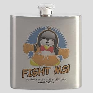 MS-Boxing-Penguin-wht Flask