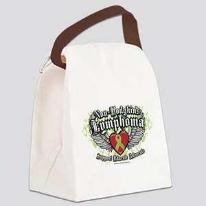 NH-Lymphoma-Wings Canvas Lunch Bag