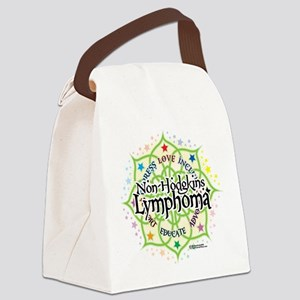 NH-Lymphoma-Lotus Canvas Lunch Bag