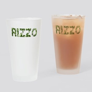 Rizzo, Vintage Camo, Drinking Glass