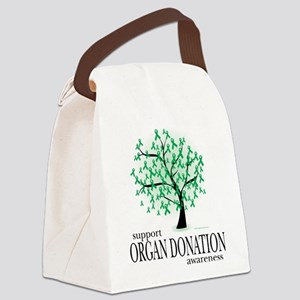 Organ-Donation-Tree Canvas Lunch Bag