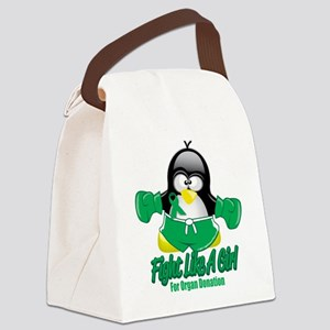 Organ-Donation-Fighting-Penguin Canvas Lunch B