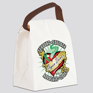 Organ-Donor-Classic-Tattoo Canvas Lunch Bag