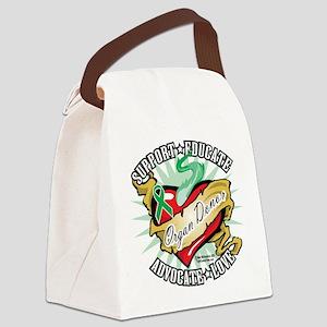 Organ-Donor-Classic-Tattoo Canvas Lunch Bag