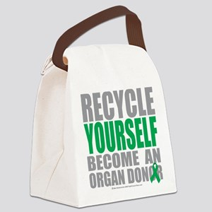 Recycle-Yourself-Organ-Donor Canvas Lunch Bag