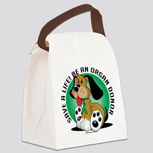 Organ-Donor-Dog Canvas Lunch Bag