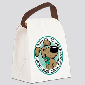 Paws-for-the-Cure-Ovarian Canvas Lunch Bag