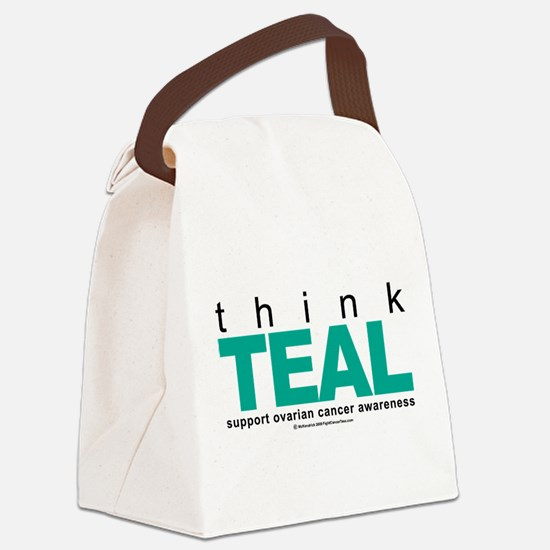 Think-TEAL-Ovarian-Cancer.png Canvas Lunch Bag