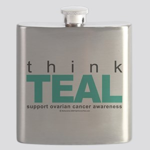 Think-TEAL-Ovarian-Cancer Flask