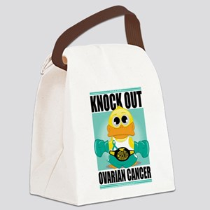 Knock-Out-Ovarian-Cancer Canvas Lunch Bag