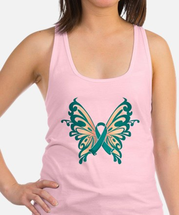 Teal-Butterfly-2009.png Racerback Tank Top