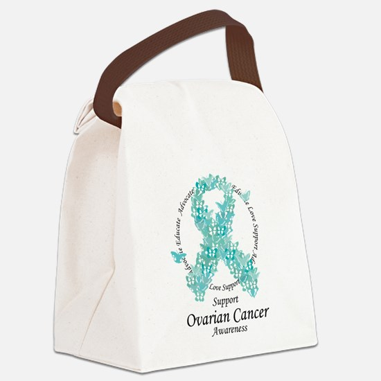 OC Butterfly Ribbon Canvas Lunch Bag