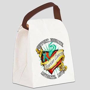 2-Ovarian-Cancer-Heart-Tattoo Canvas Lunch Bag