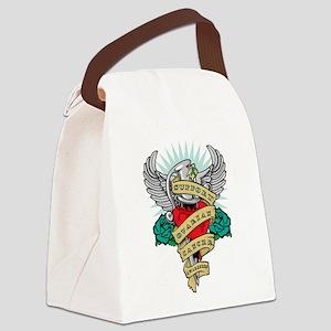 Ovarian-Cancer-Dagger Canvas Lunch Bag
