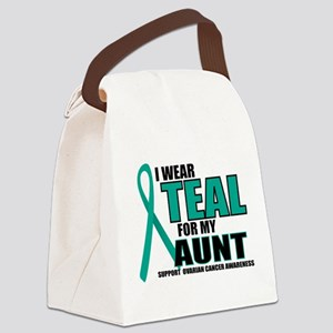 OC: Teal For Aunt Canvas Lunch Bag