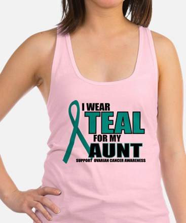 OC: Teal For Aunt Racerback Tank Top