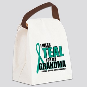 OC-Teal-For-GRANDMA Canvas Lunch Bag