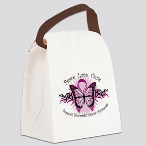 Pancreatic-Cancer-Tribal-Butterfly Canvas Lunc