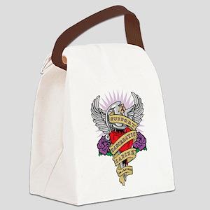 Pancreatic Cancer Dagger Tatt Canvas Lunch Bag